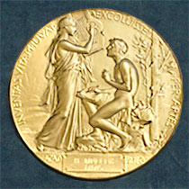 The Nobel Prize Medal for Literature. Registered trademark of the Nobel Foundation. © ® The Nobel Foundation