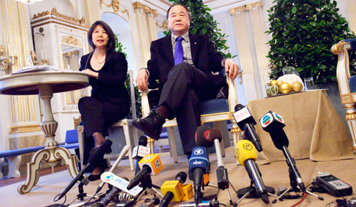 Press conference with Mo Yan at the Swedish Academy in Stockholm