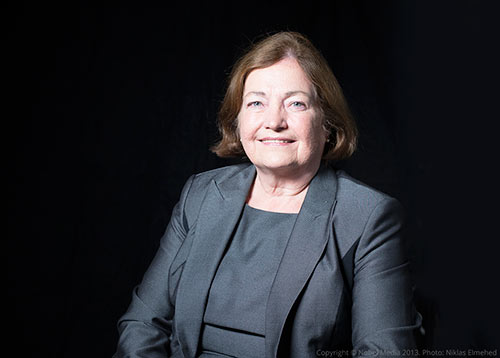 Portrait of Mairead Corrigan Maguire  during an interview at the Nobel Museum in Stockholm