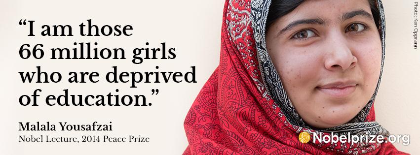 Malala Yousafzai Facts NobelPrizeorg Best I Am Malala Quotes