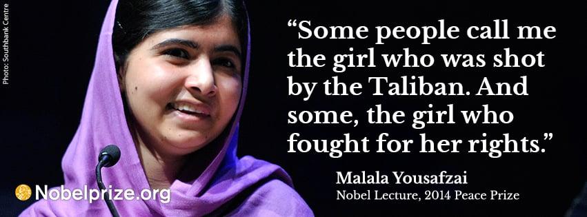 Malala Yousafzai Facts Nobelprizeorg