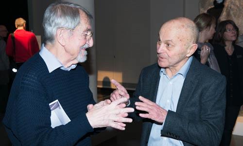 Martin Karplus and Eugene Fama, Laureate in Economic Sciences, have a talk at the Nobel Museum in Stockholm