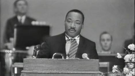 Martin Luther King Jr. deliver his acceptance speech