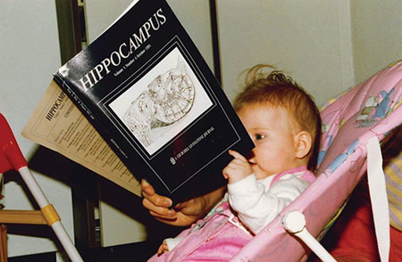 Isabel reads the journal Hippocampus with great interest. This journal was founded in 1990 by Menno Witter and David Amaral.