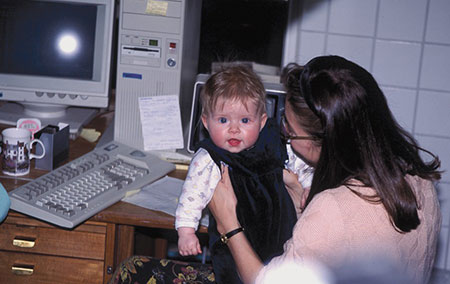 Isabel and me in Per Andersen's lab in 1991. I had just started my PhD research.