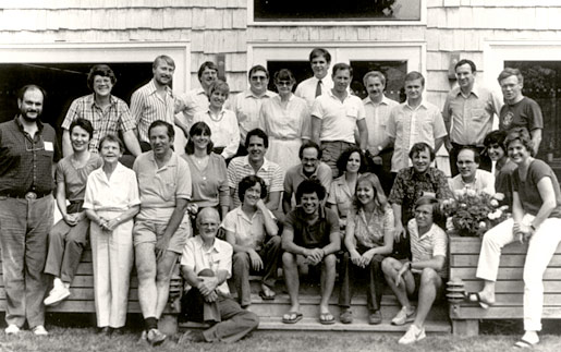 Barbara McClintock with staff at the Banbury Center