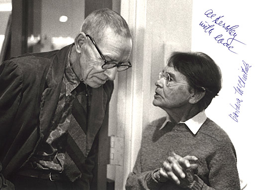 Barbara McClintock with Alfred Hershey