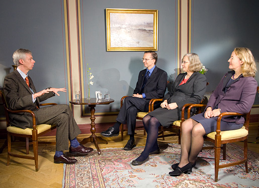 2009 Medicine Laureates during the interview with Nobelprize.org