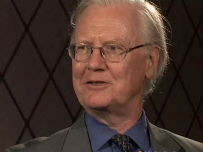 James A. Mirrlees during the interview.