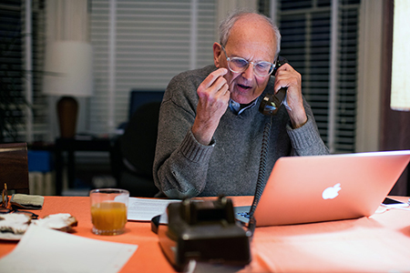Rainer Weiss on the phone .
