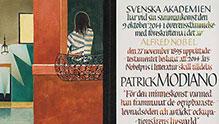 Patrick Modiano's Nobel diploma