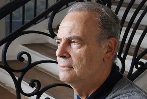 Portrait of Patrick Modiano. Photo: Catherine Hélie. Courtesy Editions Gallimard