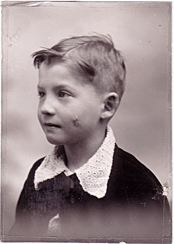 Luc Montagnier at the age of 5.