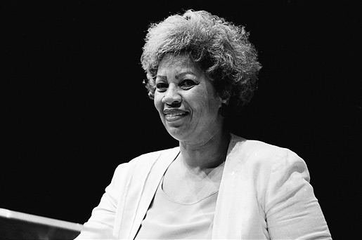 Toni Morrison speaking at the Miami International Book Fair