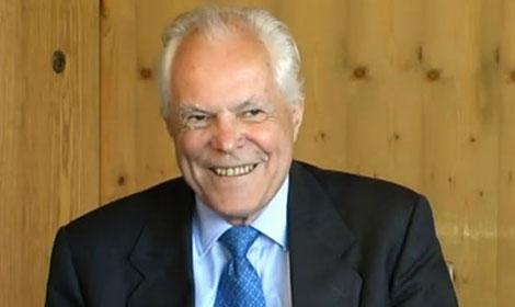 Rudolf Mössbauer during the interview