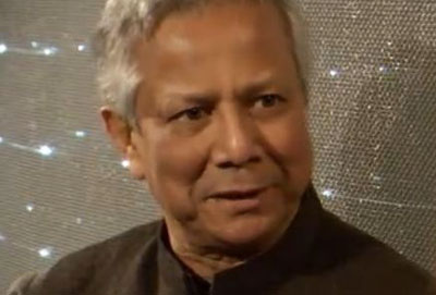 Muhammad Yunus during the interview