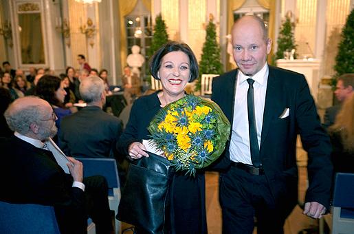 Herta Müller after delivering her Nobel Lecture