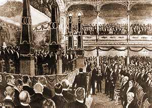 The first Nobel Prize Award Ceremony in 1901 at the Royal Academy of Music in Stockholm.