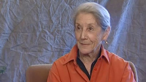 Nadine Gordimer during the interview with Nobelprize.org.
