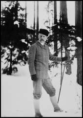 Nansen on skis.