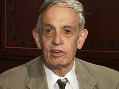 John Nash during the interview.