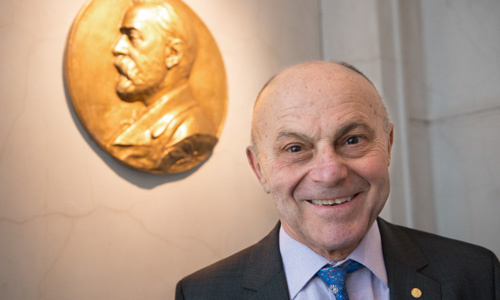Eugene F. Fama during his visit to the Nobel Foundation on 12 December