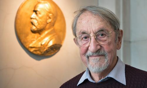 Martin Karplus during his visit to the Nobel Foundation