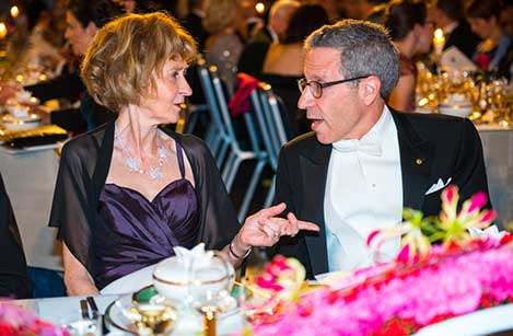 Eric S. Maskin and Margareta Hansson at the table of honour at the 2014 Nobel Banquet, 10 December 2014.