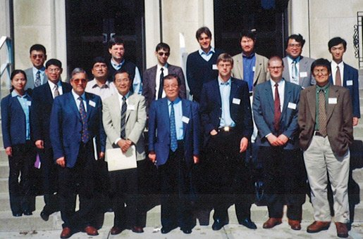 Ei-ichi Negishi flanked by his former associates and Professors S. Murahashi and M. Anastasia