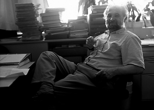 Erwin Neher in his office.