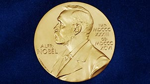 The Nobel Medal. Registered trademark of the Nobel Foundation. © ® The Nobel Foundation.