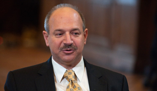 Bruce A. Beutler at Nobel Media's taping of the TV-program 'Nobel Minds' in the Bernadotte Library at the Royal Palace, 9 December 2011