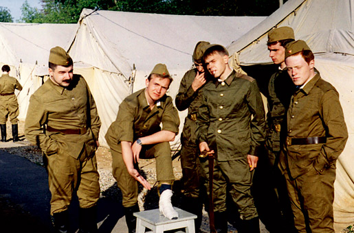 At the military camp (1996)