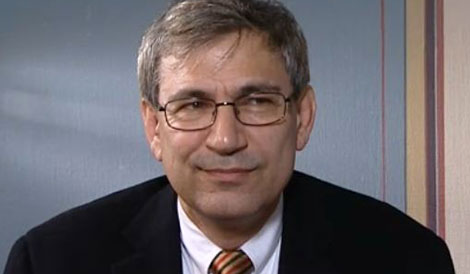 Orhan Pamuk during the interview