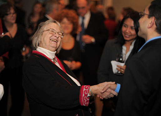 Elinor Ostrom during the reception at the Royal Swedish Academy of Sciences