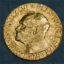 The Nobel Peace Prize Medal. Registered trademark of the Nobel Foundation. © ® The Nobel Foundation
