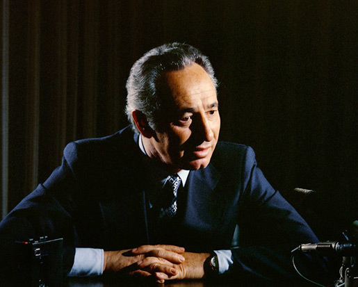 Portrait of Shimon Peres.