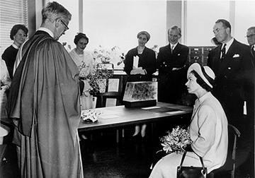 Queen Elizabeth at opening