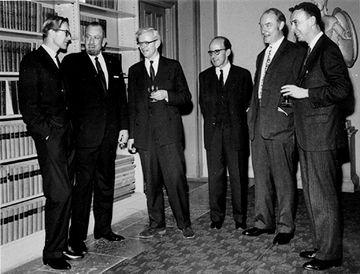 Wilkins, Steinbeck, Kendrew, Perutz, Crick and Watson
