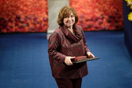 Svetlana Alexievich at the Nobel Prize Award Ceremony.