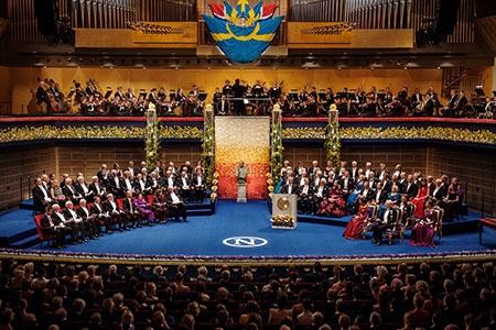 Overview from Nobel Prize Award Ceremony at the Stockholm Concert Hall