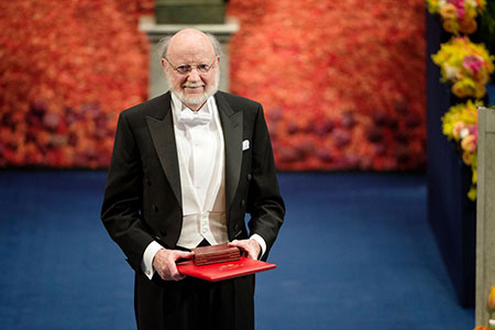 William C. Campbell after receiving his Nobel Prize at the Stockholm Concert Hall