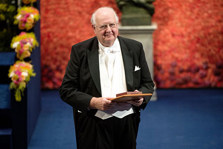 Angus Deaton after receiving his Prize at the Stockholm Concert Hall