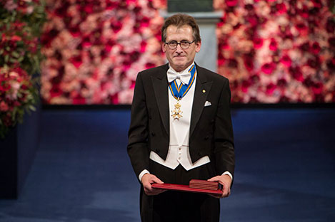 Bernard L. Feringa after receiving his Nobel Prize at the Stockholm Concert Hall