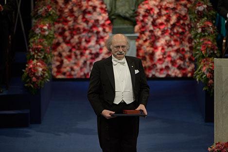 F. Duncan M. Haldane after receiving his Nobel Prize at the Stockholm Concert Hall