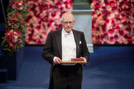 Oliver Hart after receiving his Prize at the Stockholm Concert Hall