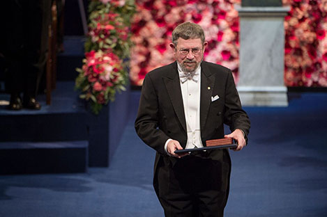 J. Michael Kosterlitz after receiving his Nobel Prize at the Stockholm Concert Hall