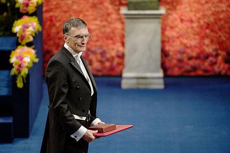 Aziz Sancar after receiving his Nobel Prize at the Stockholm Concert Hall