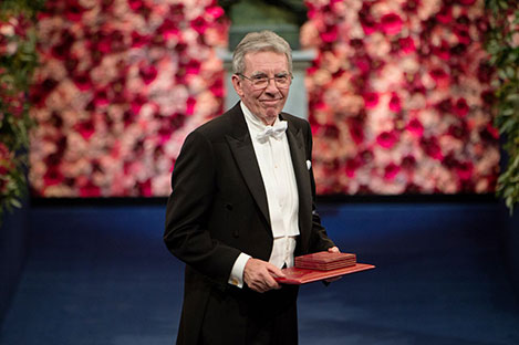 Jean-Pierre Sauvage after receiving his Nobel Prize at the Stockholm Concert Hall