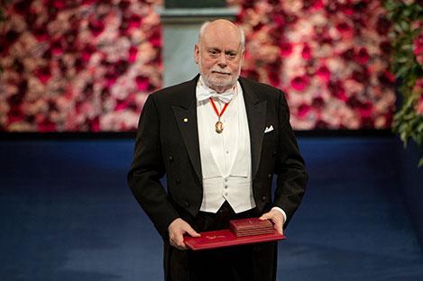 Sir J. Fraser Stoddart after receiving his Nobel Prize at the Stockholm Concert Hall
